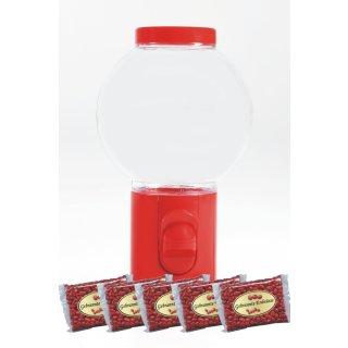 Spender Erdnusspender Bonbonspender Erdnusskerne Nussautomat Rot + 2000gr Erdnüsse