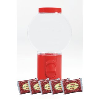 Spender Erdnussspender Bonbonspender Erdnusskerne Nussautomat Rot + 5000gr Erdnüsse